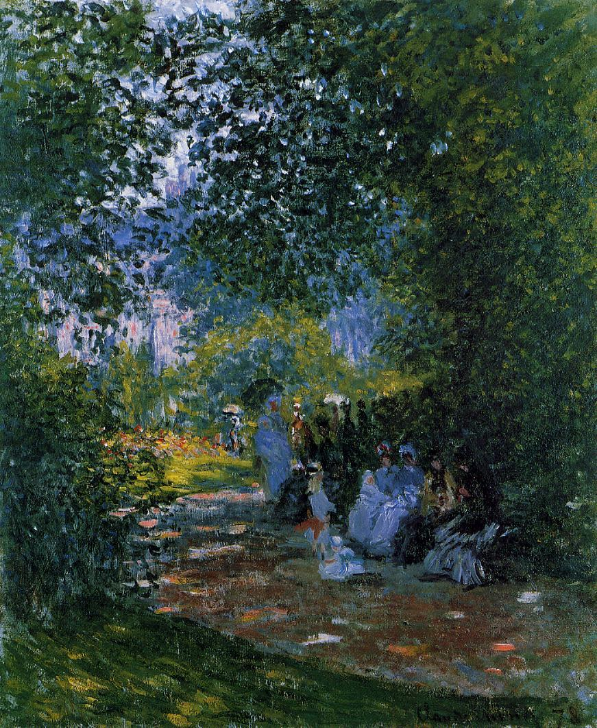 At the Parc Monceau 1878 | Claude Monet | Oil Painting