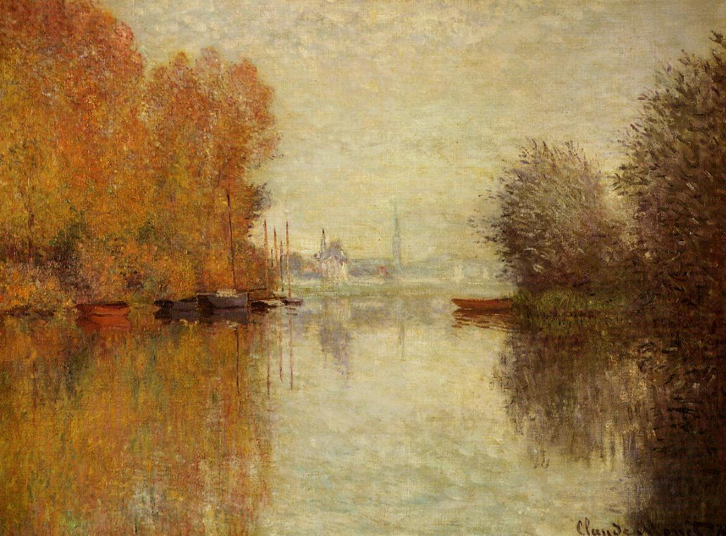 Autumn on the Seine at Argenteuil 1873 | Claude Monet | Oil Painting