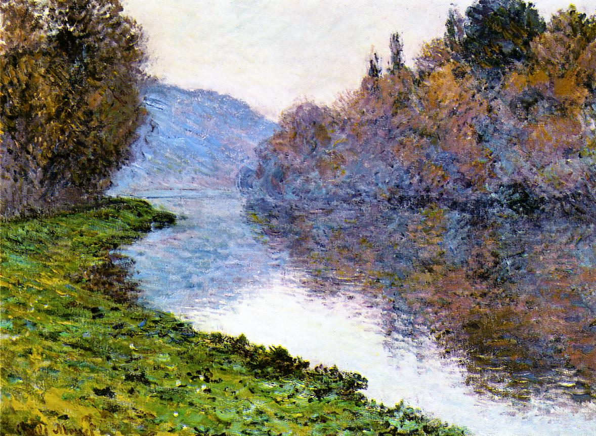 Banks of the Seine at Jenfosse Clear Weather 1884 | Claude Monet | Oil Painting