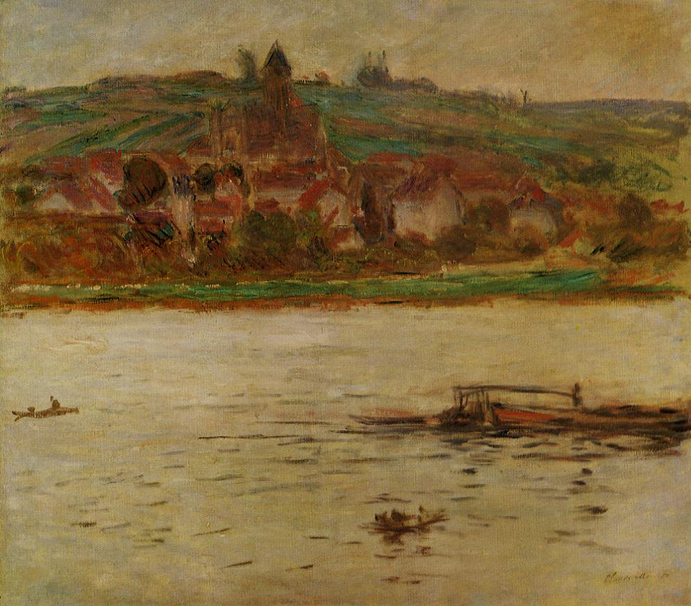Barge on the Seine at Vertheuil 1901-1902 | Claude Monet | Oil Painting