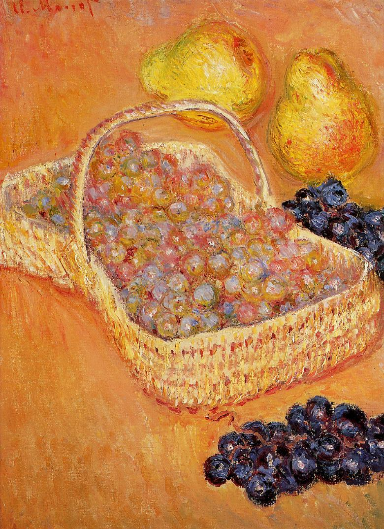 Basket of Graphes Quinces and Pears 1882-1885 | Claude Monet | Oil Painting