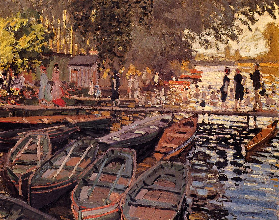 Bathers at La Grenouillere 1869 | Claude Monet | Oil Painting