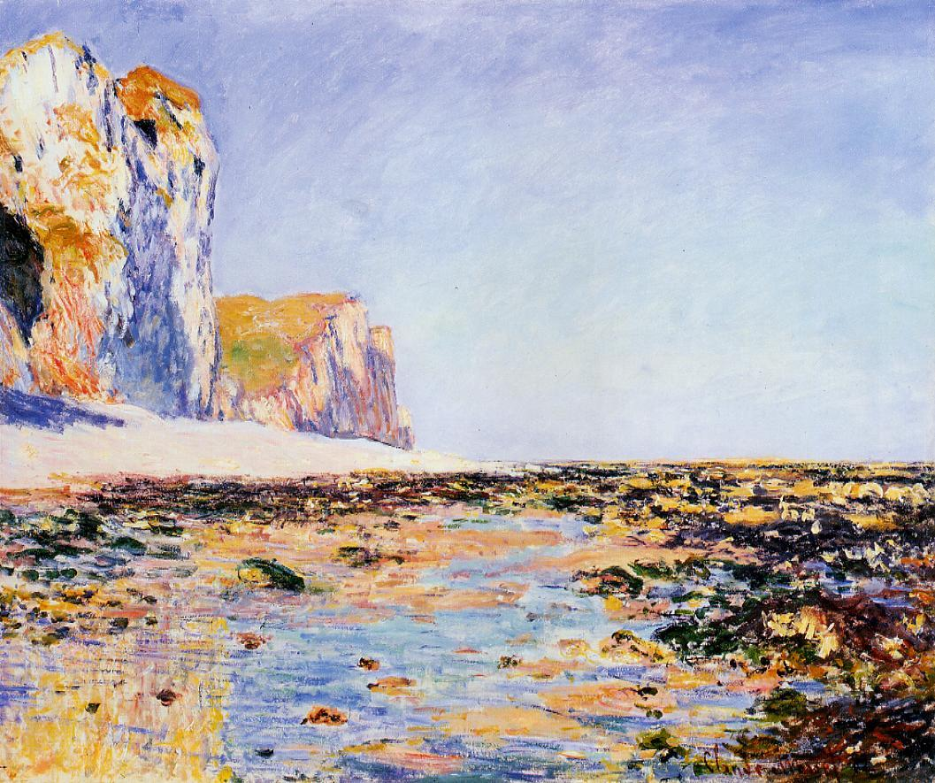 Beach and Cliffs at Pourville Morning Effect 1882 | Claude Monet | Oil Painting