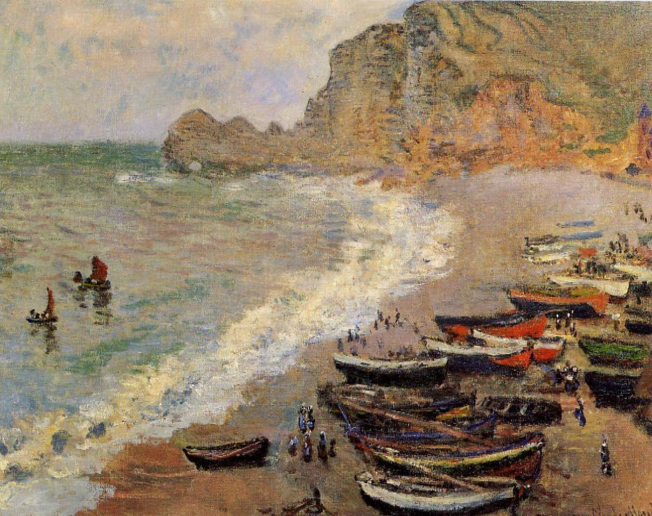 Beach at Etretat 1883 | Claude Monet | Oil Painting