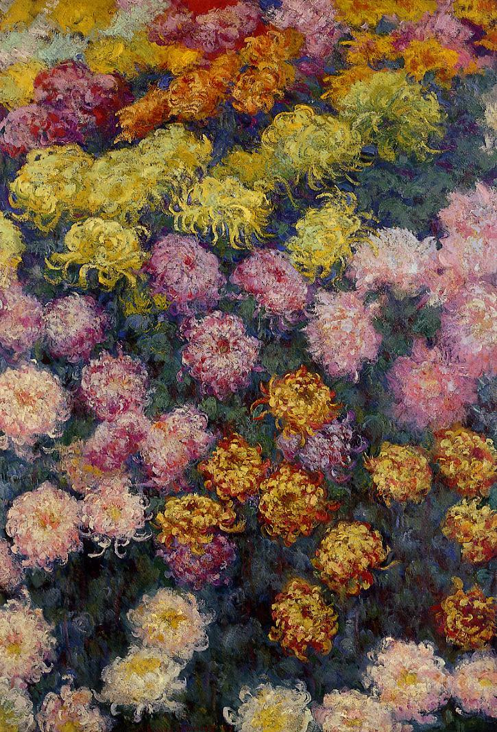 Bed of Chrysanthemums 1897 | Claude Monet | Oil Painting
