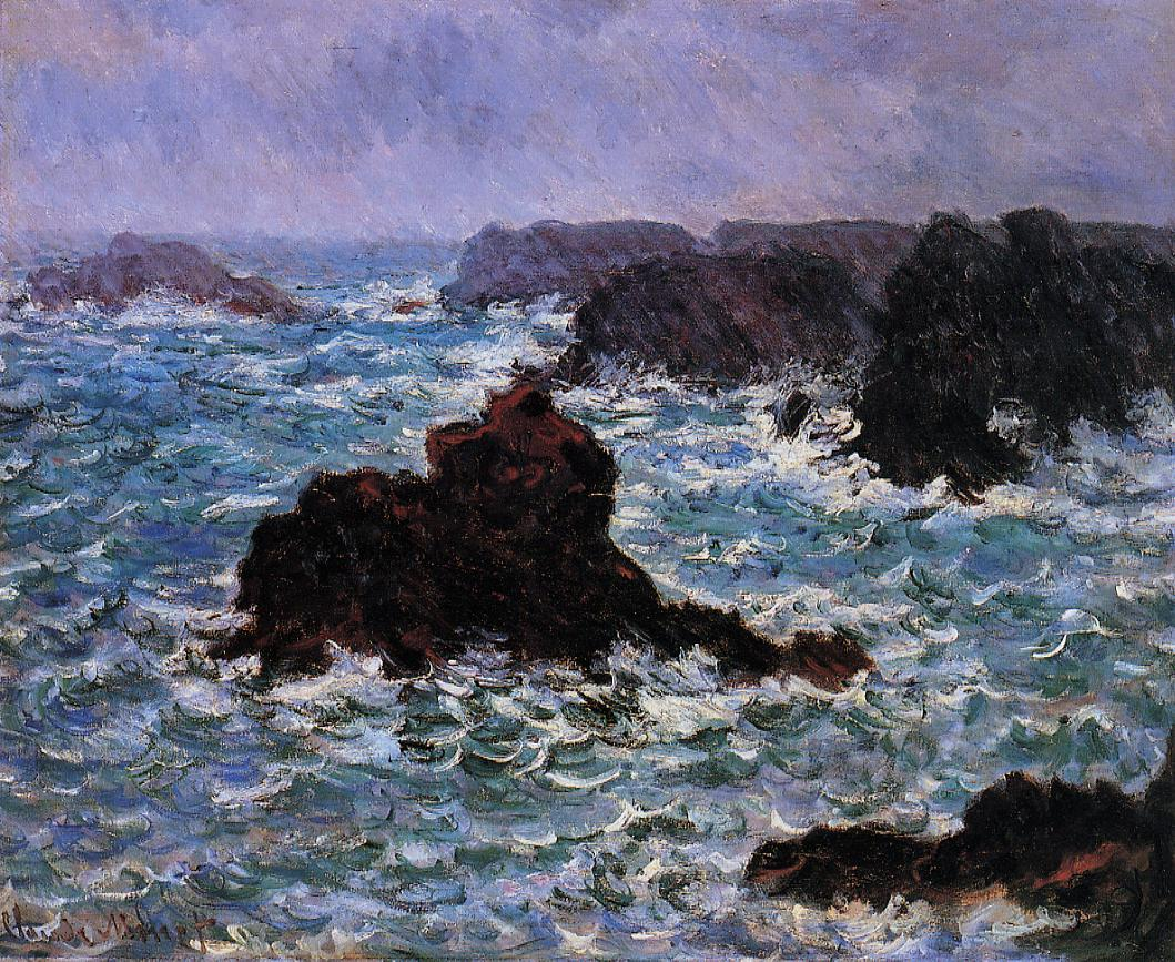 Belle-Ile Rain Effect 1886 | Claude Monet | Oil Painting