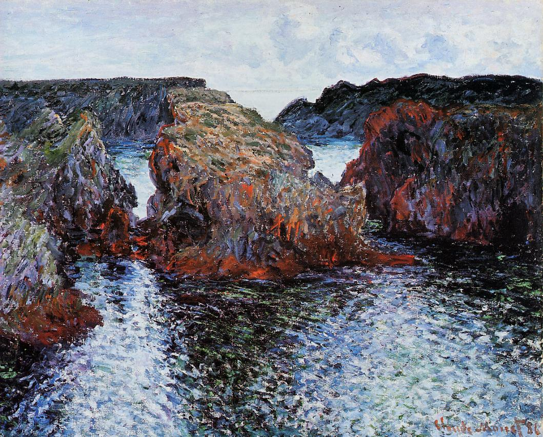 Belle-Ile Rocks at Port-Goulphar 1886 | Claude Monet | Oil Painting