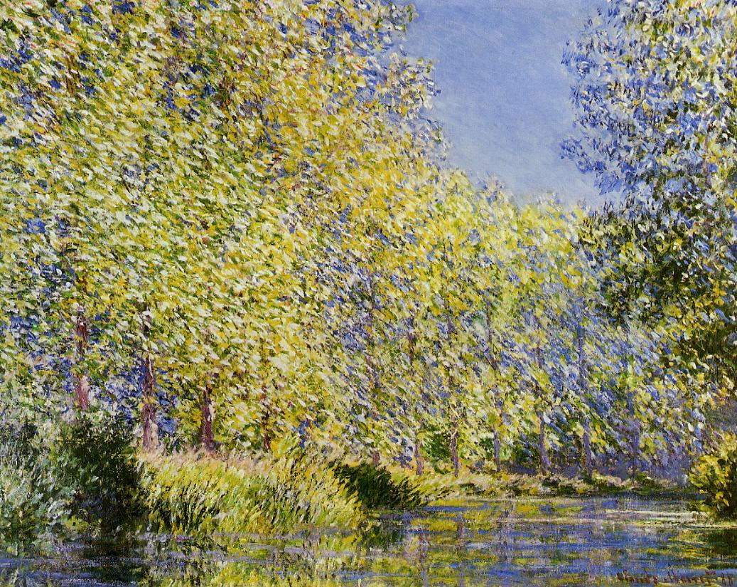 Bend in the River Epte 1888 | Claude Monet | Oil Painting