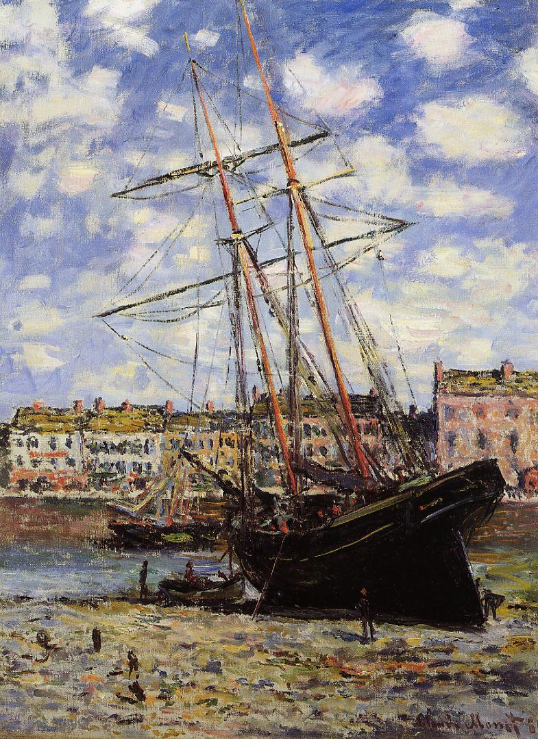 Boat at Low Tide at Fecamp 1881 | Claude Monet | Oil Painting