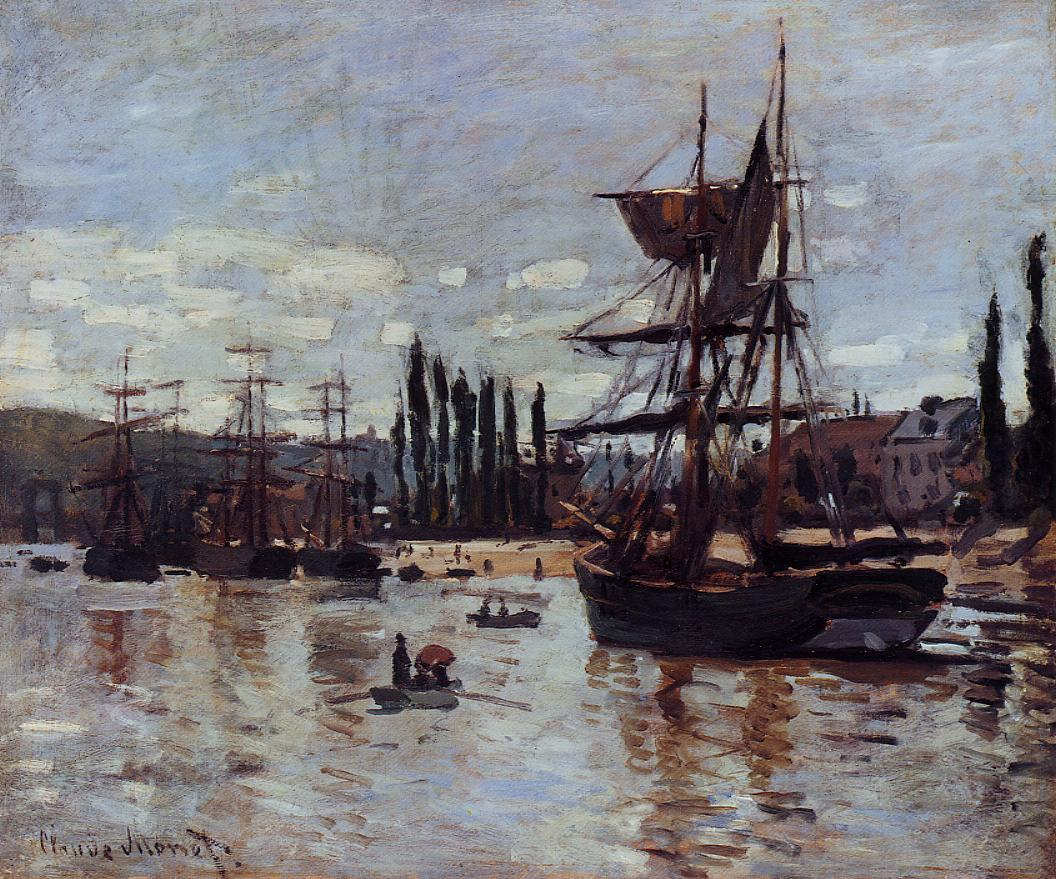 Boats at Rouen 1872 | Claude Monet | Oil Painting