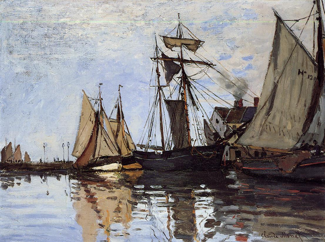 Boats in the Port of Honfleur 1866 | Claude Monet | Oil Painting