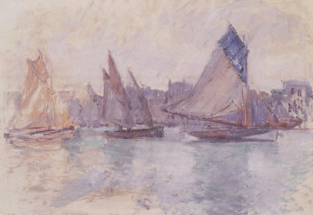 Boats in the Port of Le Havre 1882-1883 | Claude Monet | Oil Painting