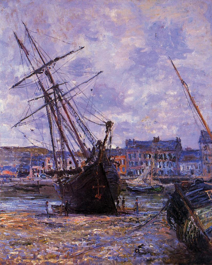 Boats Lying at Low Tide at Facamp 1881 | Claude Monet | Oil Painting