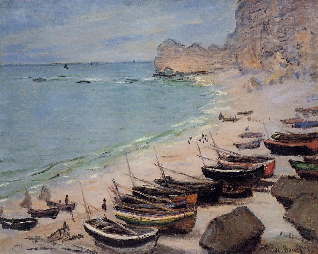 Boats on the Beach at Etretat 1883 | Claude Monet | Oil Painting