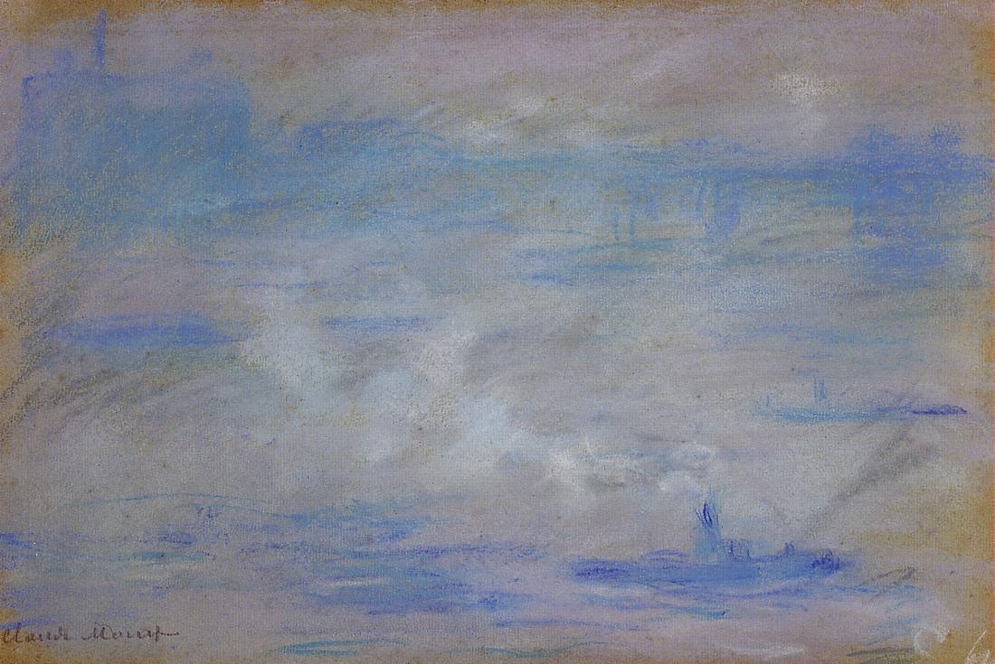 Boats on the Thames Fog Effect 1901 | Claude Monet | Oil Painting
