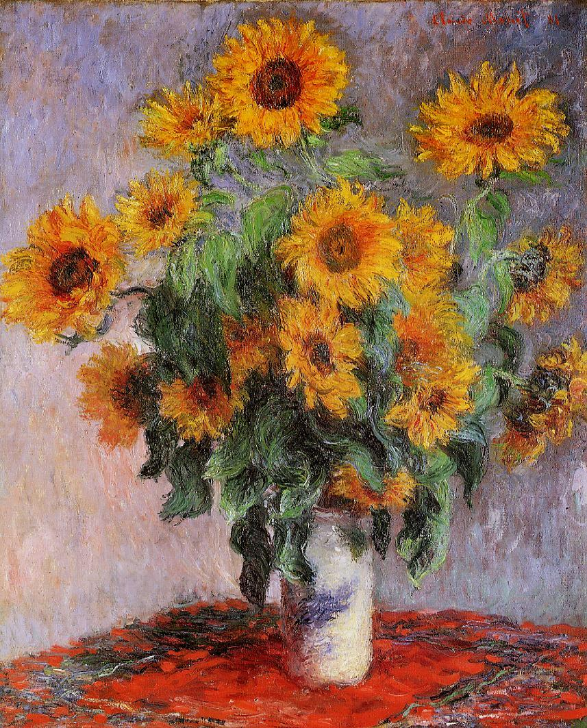 Bouquet of Sunflowers 1880 | Claude Monet | Oil Painting