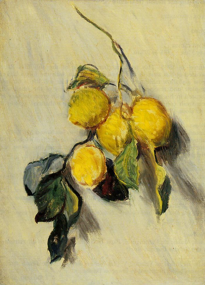 Branch of Lemons 1883 | Claude Monet | Oil Painting