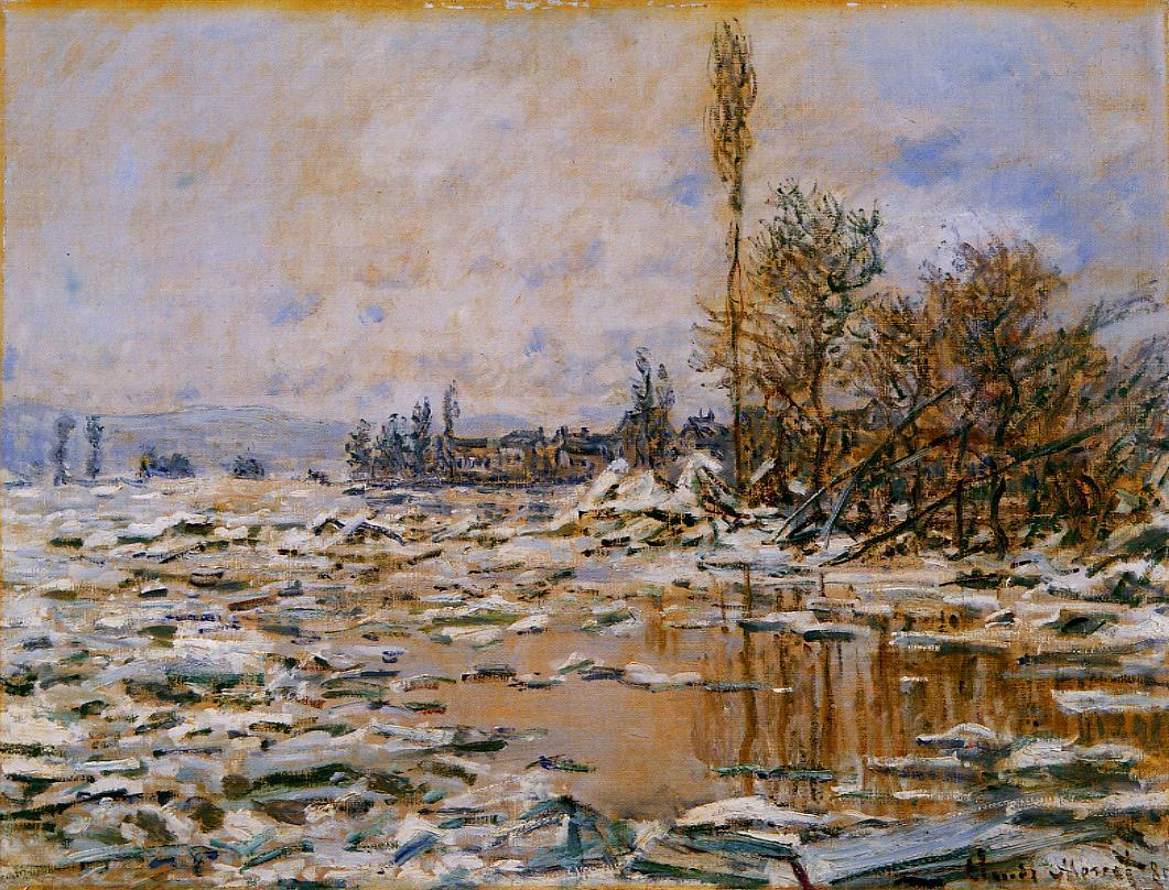 Breakup of Ice Grey Weather 1880 | Claude Monet | Oil Painting