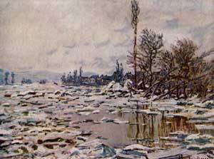 Breakup of the Ice Lavacourt 1880 | Claude Monet | Oil Painting