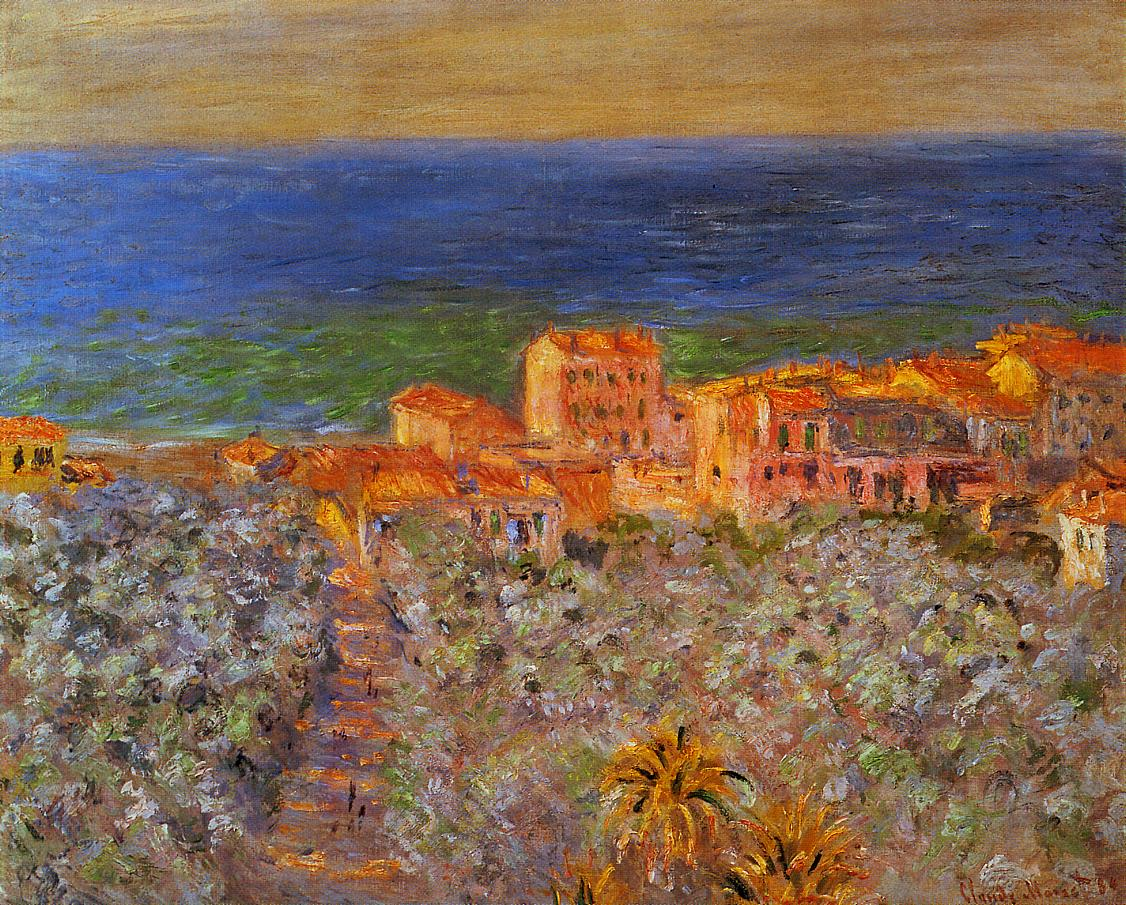 Burgo Marina at Bordighera 1884 | Claude Monet | Oil Painting