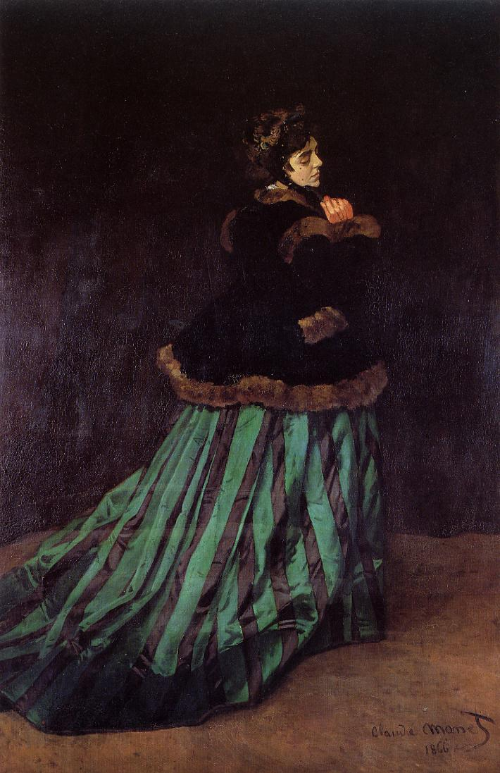 Camille (aka The Woman in a Green Dress) 1866 | Claude Monet | Oil Painting