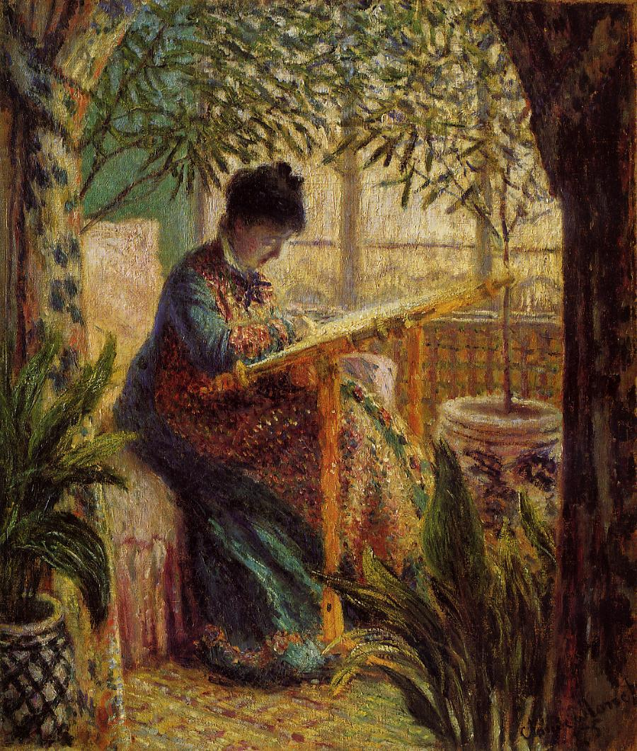Camille Embroidering 1875 | Claude Monet | Oil Painting