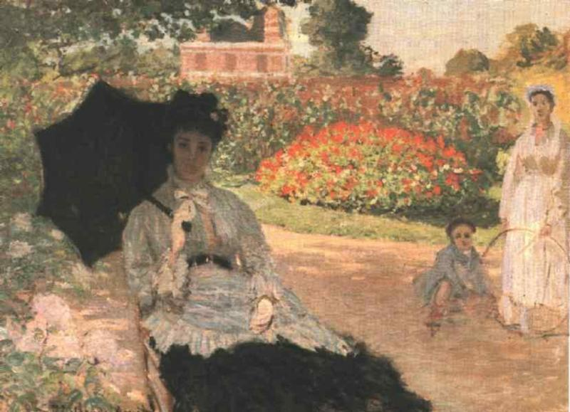 Camille in the Garden with Jean and His Nanny 1873 | Claude Monet | Oil Painting