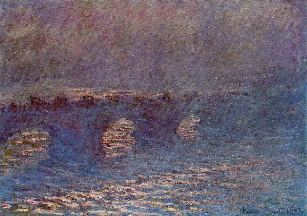 Waterloo Bridge Effect of Sun in the Mist 1899-1901 | Claude Monet | Oil Painting