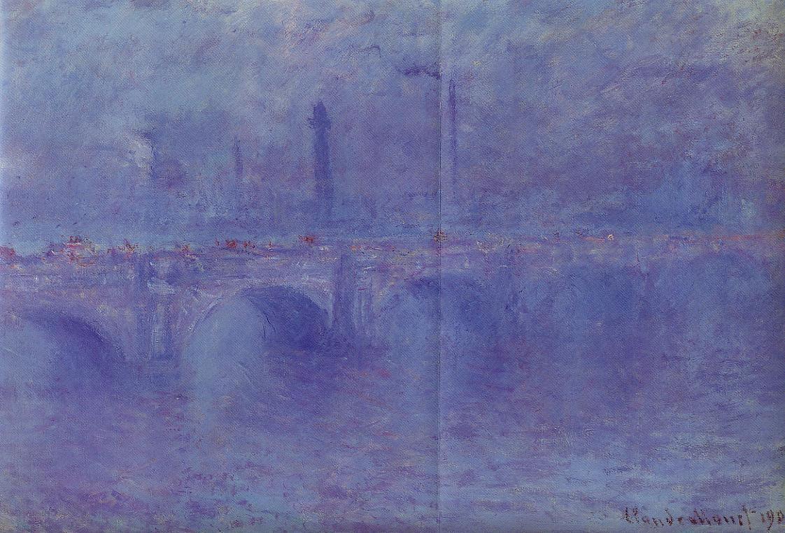 Waterloo Bridge Fog Effect 1899-1901 | Claude Monet | Oil Painting
