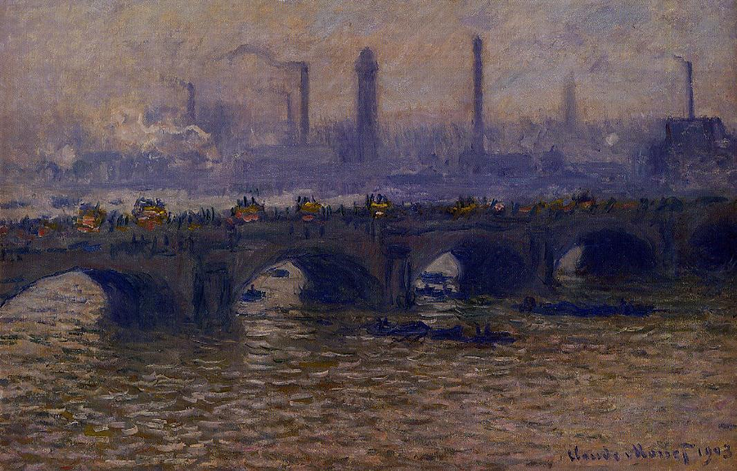 Waterloo Bridge Grey Weather 1899-1901 | Claude Monet | Oil Painting