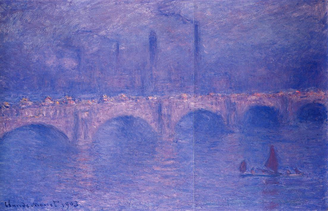 Waterloo Bridge Hazy Sun 1899-1901 | Claude Monet | Oil Painting