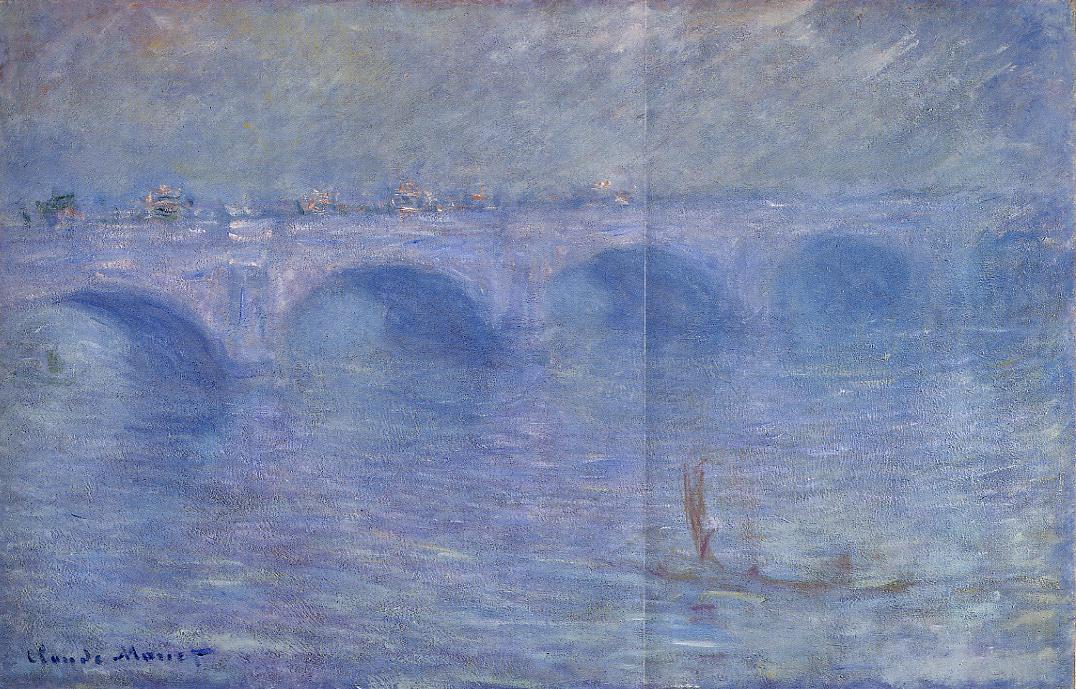 Waterloo Bridge in the Fog 1899-1901 | Claude Monet | Oil Painting