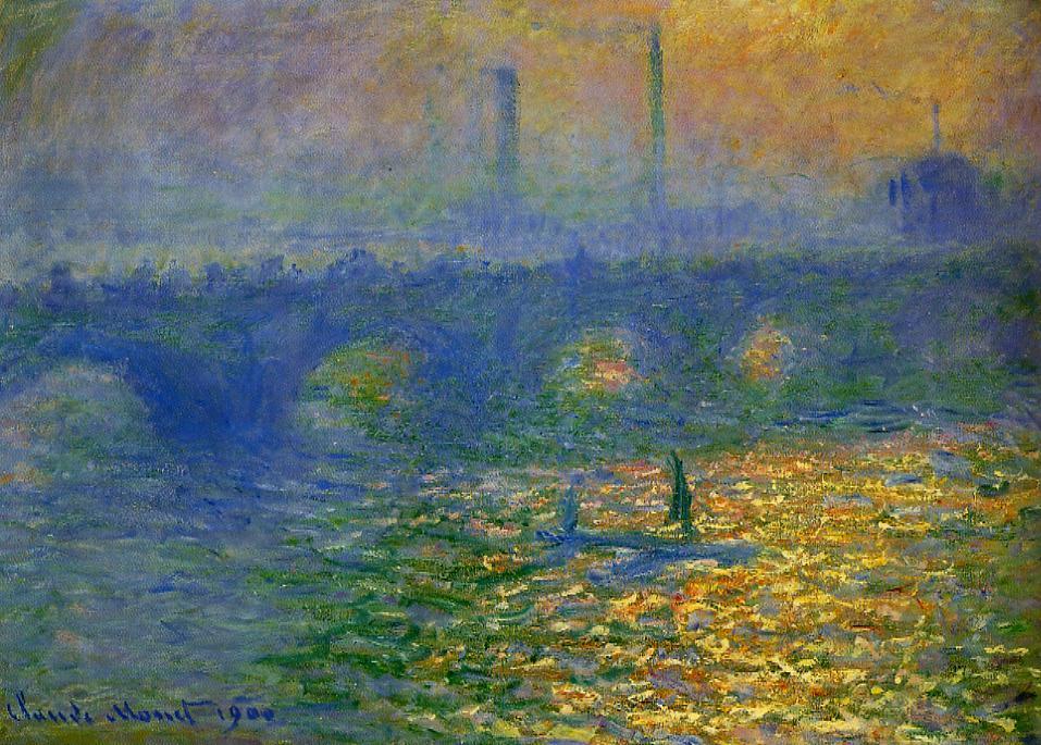Waterloo Bridge London 1900 | Claude Monet | Oil Painting