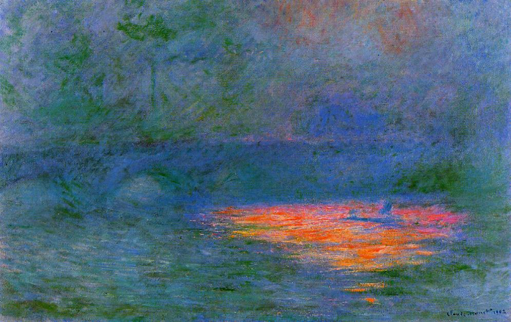 Waterloo Bridge Misty Weather 1899-1901 | Claude Monet | Oil Painting