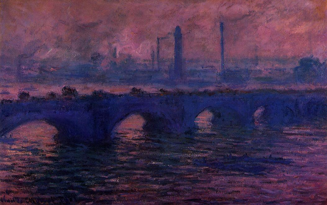 Waterloo Bridge Overcast Weather1 1899-1901 | Claude Monet | Oil Painting