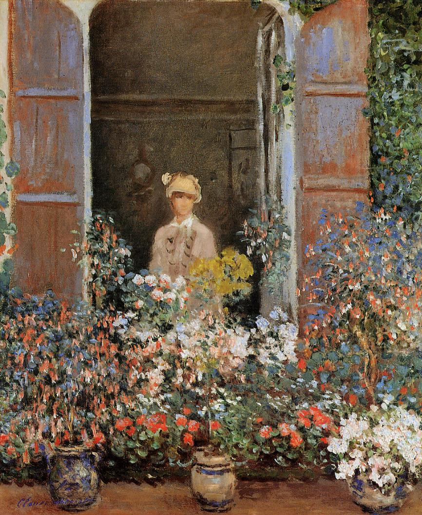 Camille Monet at the Window Argentuile 1873 | Claude Monet | Oil Painting