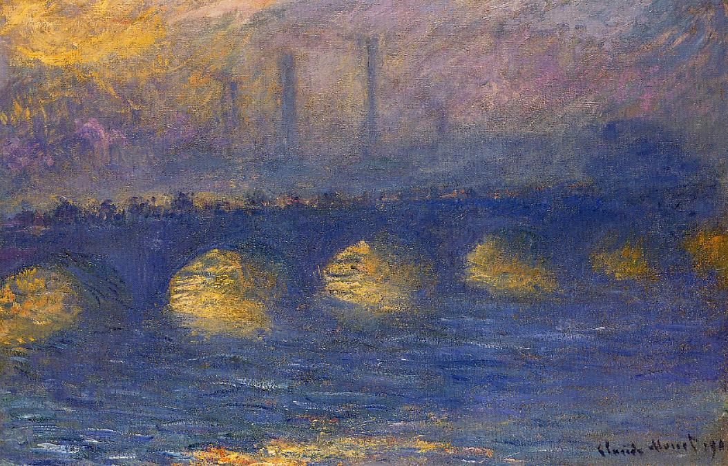 Waterloo Bridge Overcast Weather2 1899-1901 | Claude Monet | Oil Painting