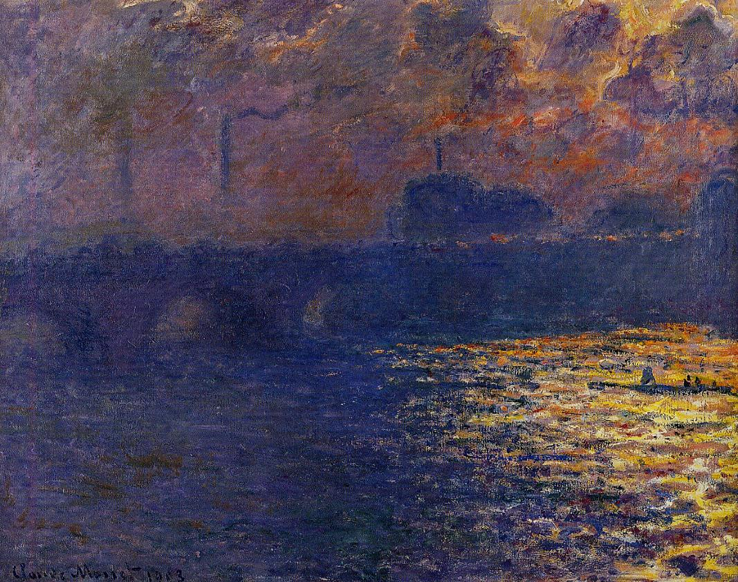 Waterloo Bridge Sunlight Effect1 1899-1901 | Claude Monet | Oil Painting