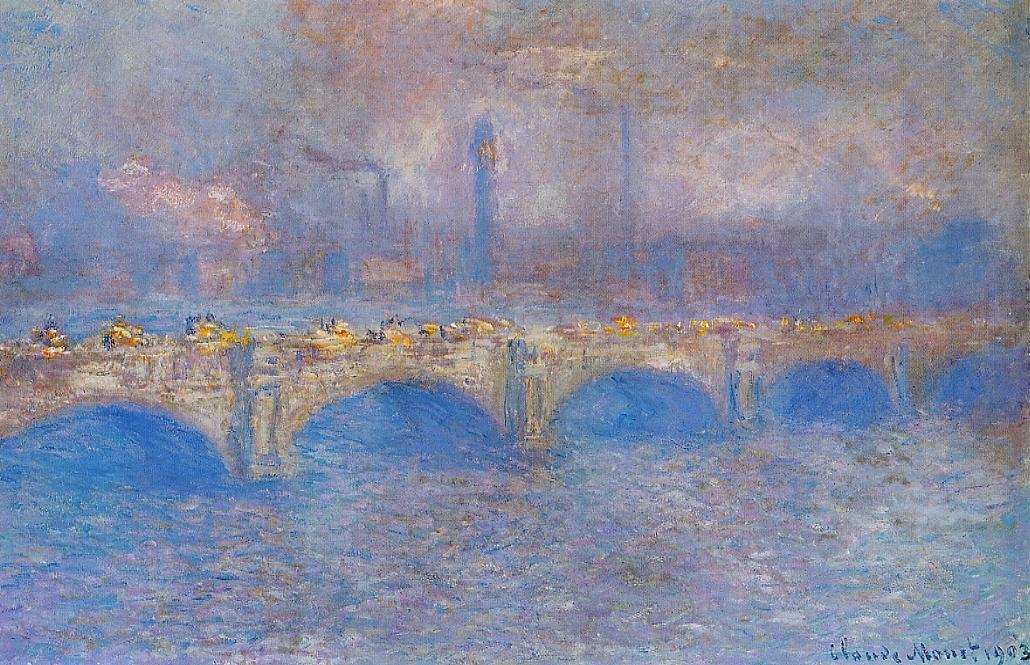 Waterloo Bridge Sunlight Effect2 1899-1901 | Claude Monet | Oil Painting