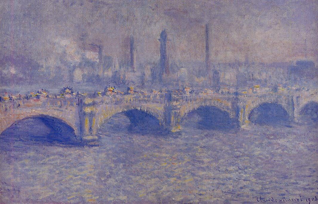 Waterloo Bridge Sunlight Effect3 1899-1901 | Claude Monet | Oil Painting