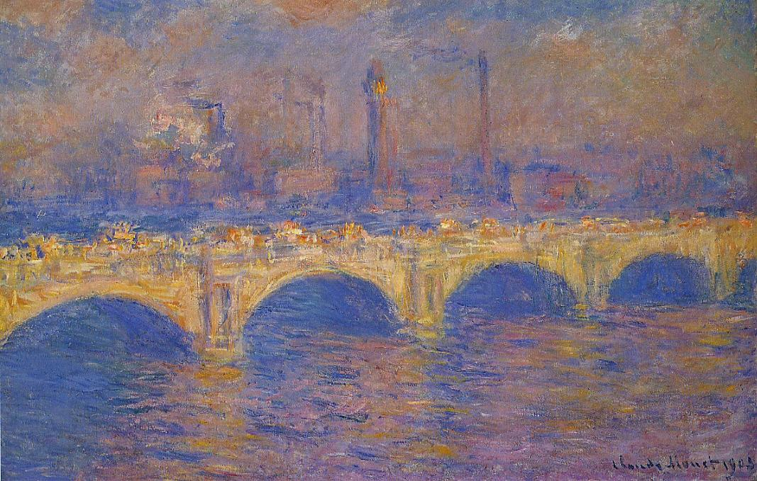 Waterloo Bridge Sunlight Effect4 1899-1901 | Claude Monet | Oil Painting