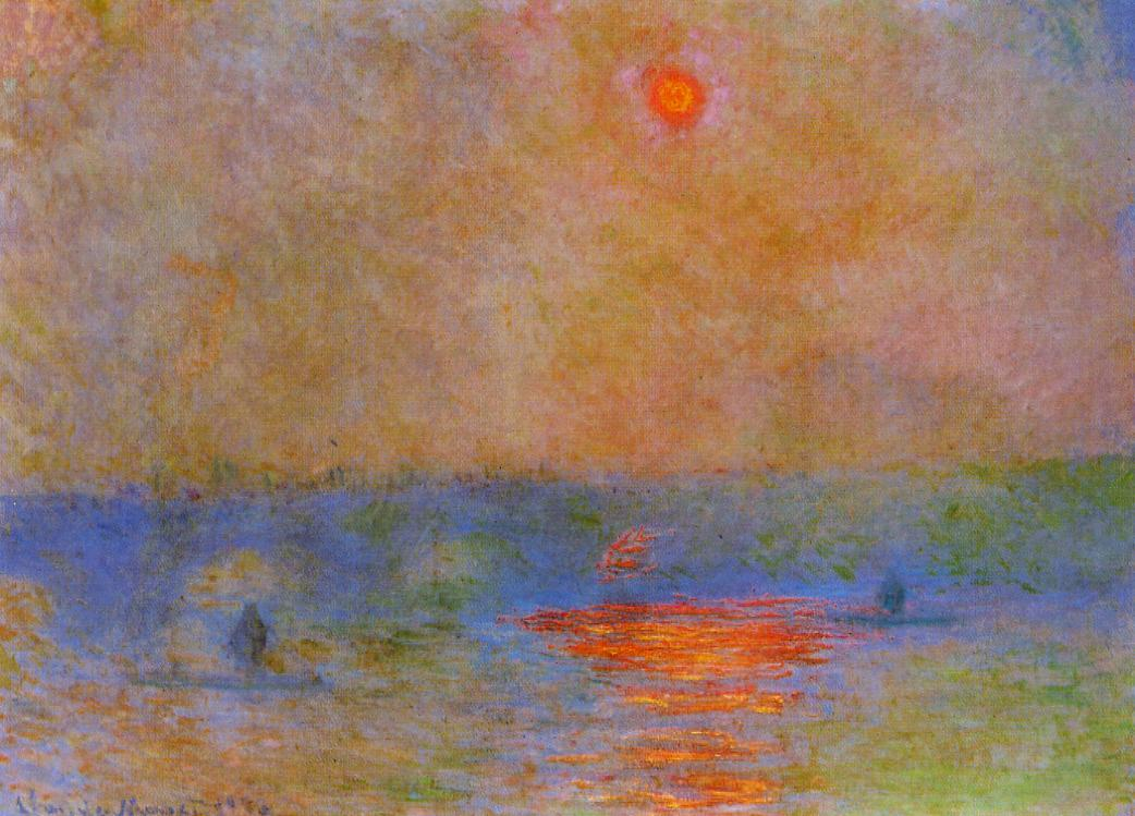Waterloo Bridge Sunlight in the Fog 1899-1900 | Claude Monet | Oil Painting