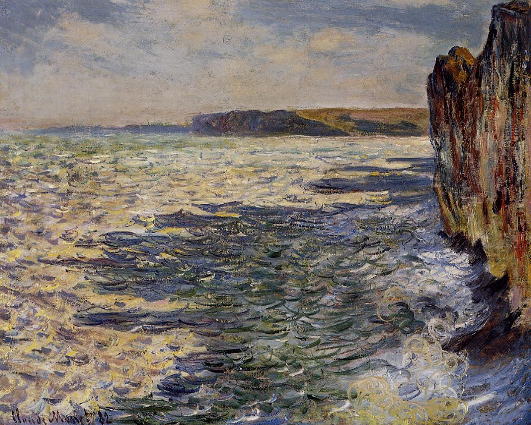 Waves and Rocks at Pourville 1882 | Claude Monet | Oil Painting