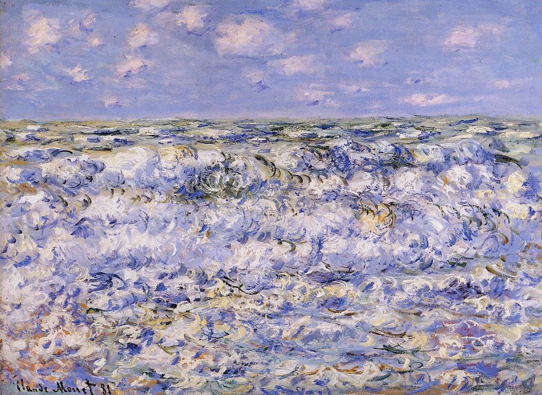 Waves Breaking 1881 | Claude Monet | Oil Painting