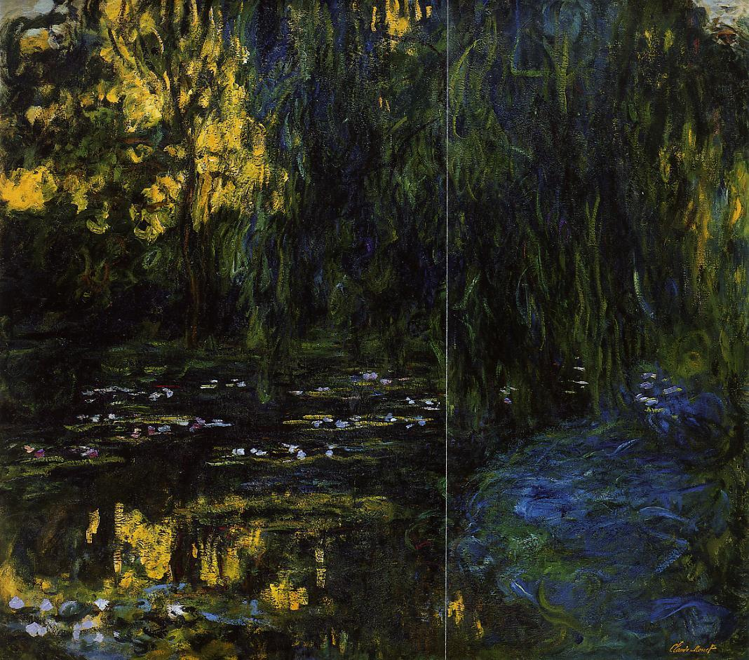 Weeping Willow and Water-Lily Pond (detail) 1916-1919 | Claude Monet | Oil Painting