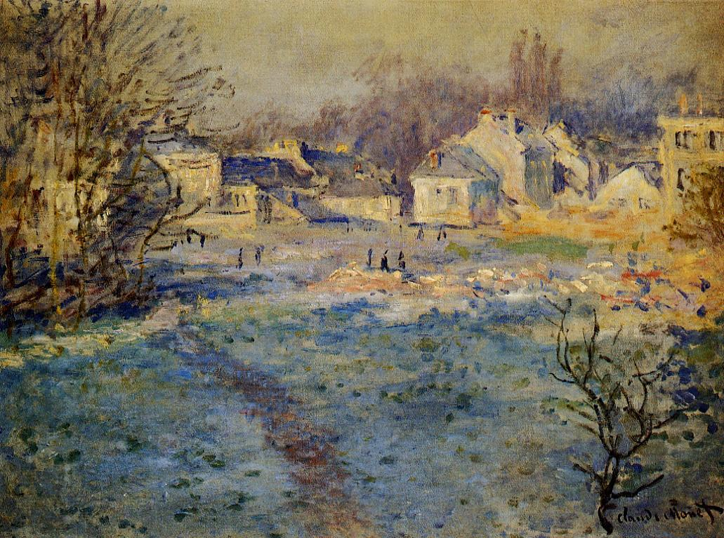 White Frost 1875 | Claude Monet | Oil Painting