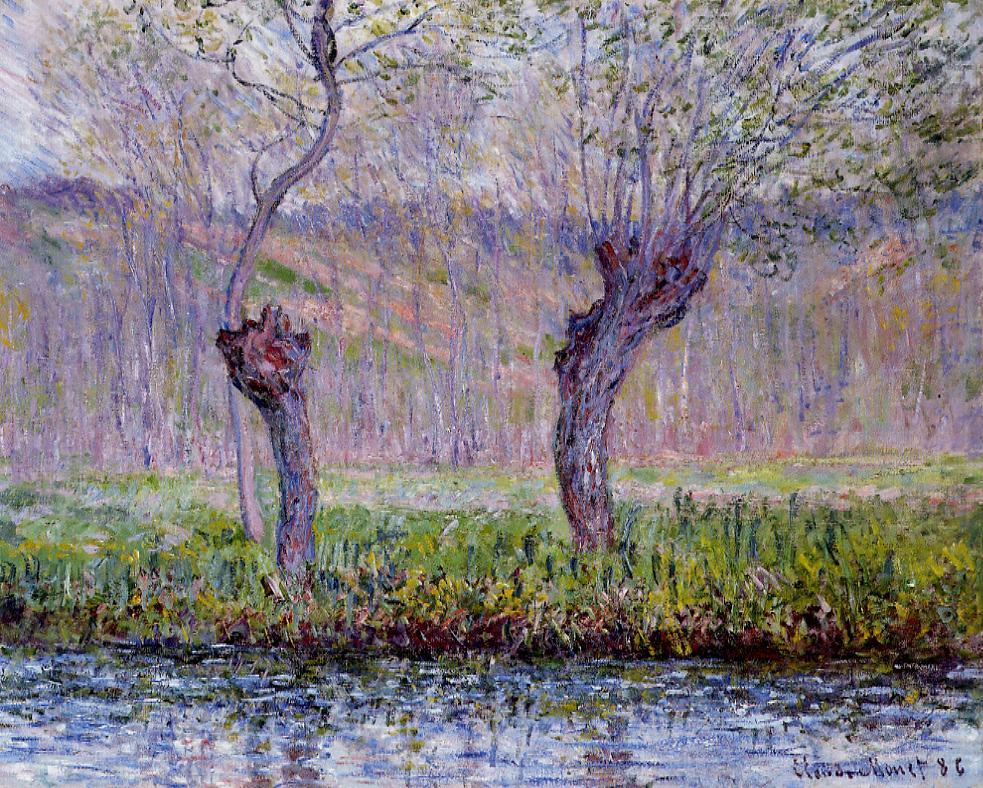 Willows in Spring 1885 | Claude Monet | Oil Painting