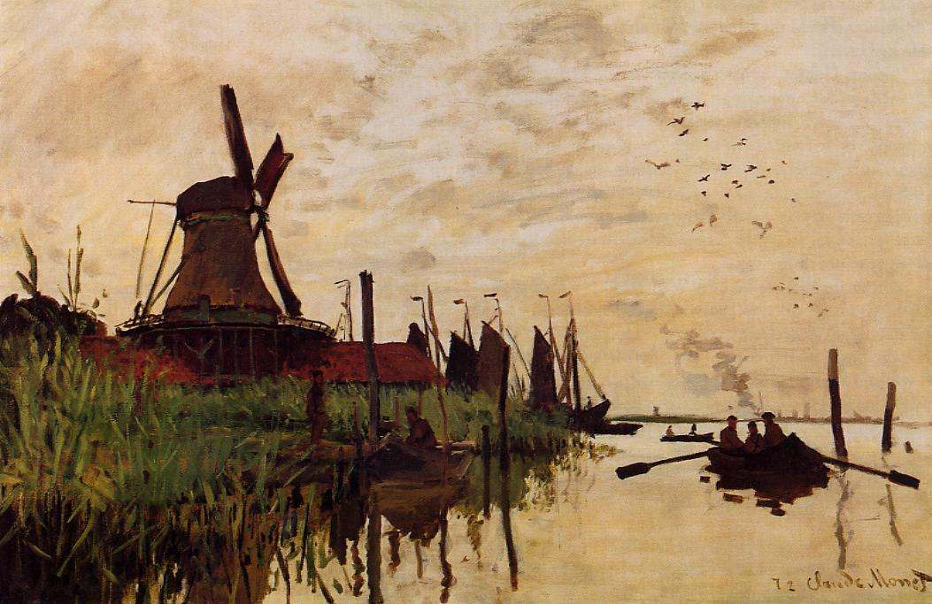 Windmill at Zaandam 1871 | Claude Monet | Oil Painting