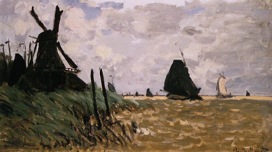 Windmill near Zaandam 1871Windmill near Zaandam 1871 | Claude Monet | Oil Painting