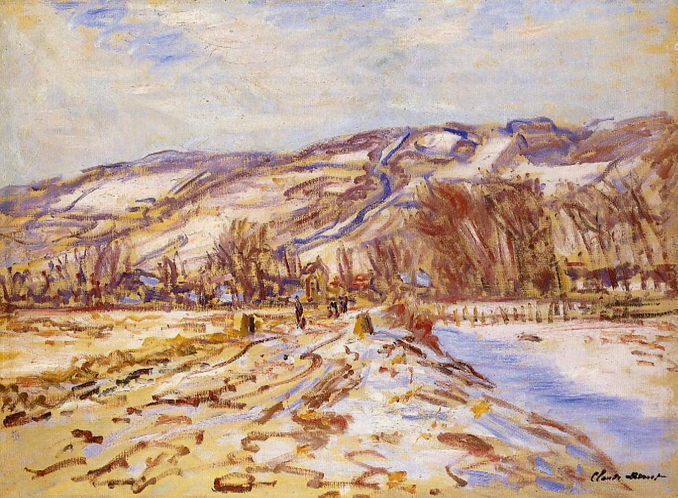 Winter at Giverny 1886   Claude Monet   Oil Painting